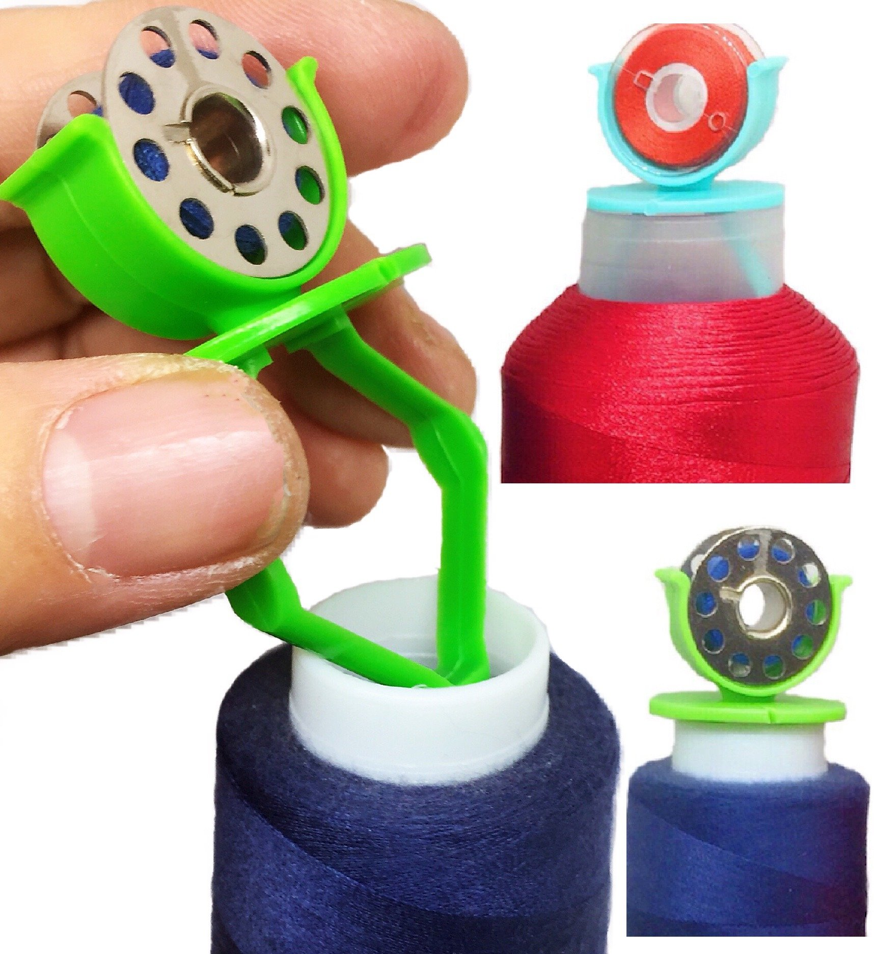PeavyTailor 15 pcs Bobbin Buddies Bobbin Holder Clamp Great for Embroidery Quilting Sewing Machine #3