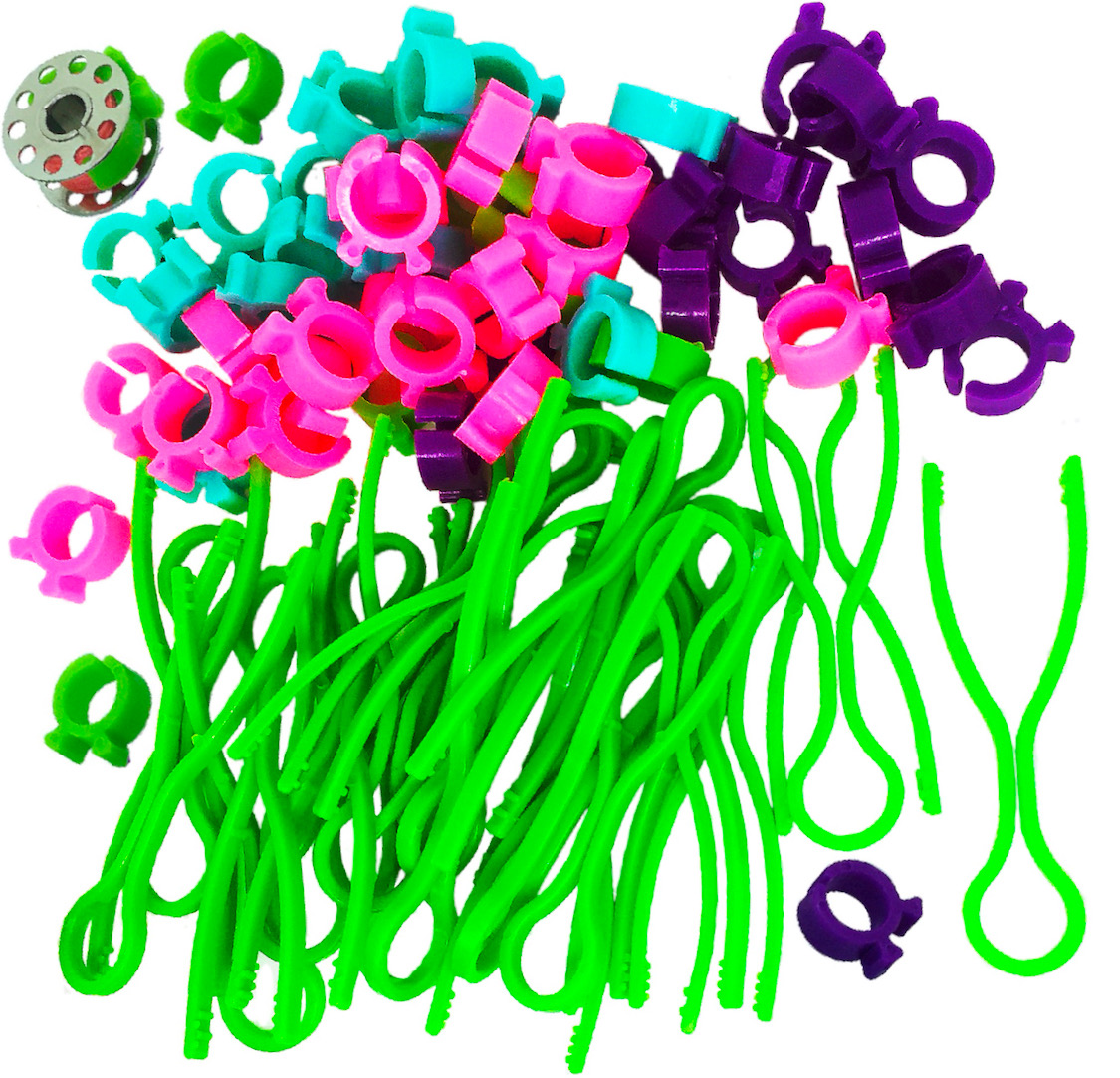 Tupalizy 5 Colors Plastic Bobbin Thread Holders Thread Buddies Bobbin Clips Clamps for Bobbins Embroidery Thread Spools Organizing Pairing Matching Quilting Sewing Machine Accessories 30PCS
