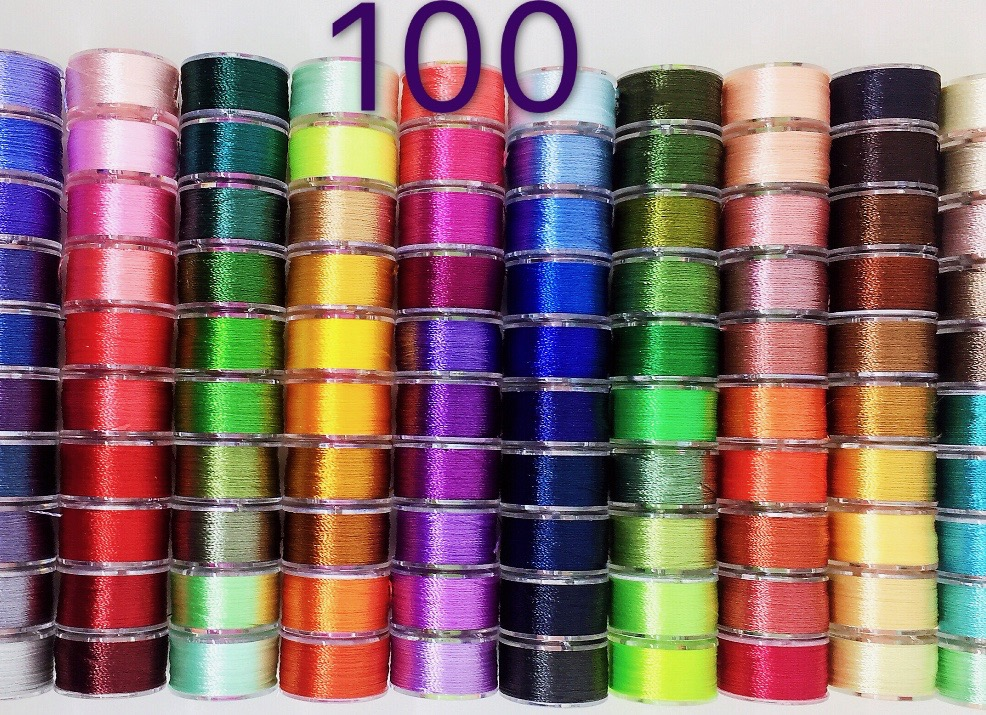 Peavytailor 100 Color Prewound Embroidery Bobbins Embroidery Thread