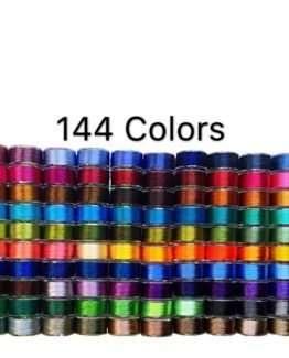 PeavyTailor 144 Colors Prewound Embroidery Bobbins 40 Wt Polyester Embroidery Machine Thread for Embroidery and Sewing Machines